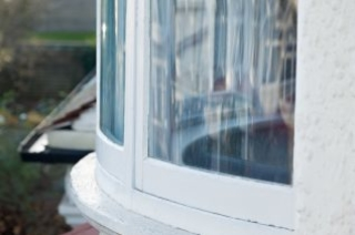 Closeup on window with WindowSkins installed
