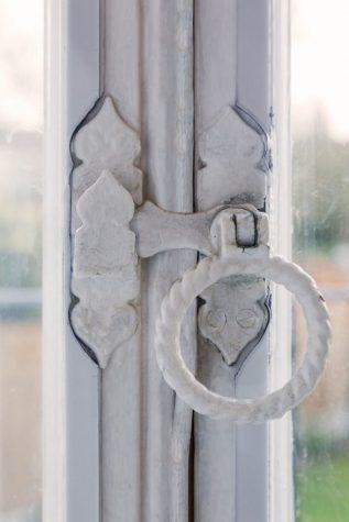 Closeup on door lock with WindowSkins