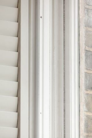 Closeup on shutters