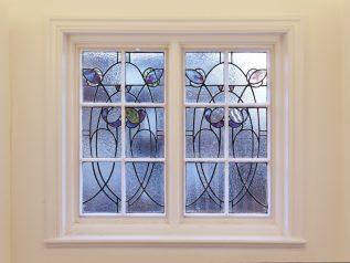WindowSkins on stained glass window