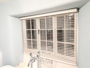 Bathroom Casement Windows with WindowSkins Secondary Glazing and Venetian Blinds