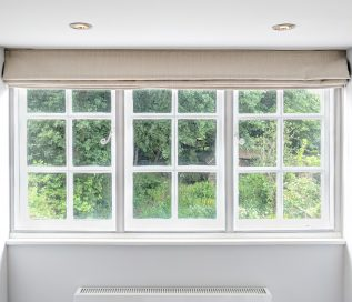 Three Timber Windows with WindowSkins Magnetic Secondary Glazing