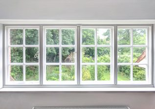 Four Casement Windows with WindowSkins Secondary Glazing installed