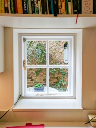 Single Casement Window with WindowSkin fitted to reduce draught and cold