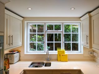 WindowSkins installation on casement kitchen windows