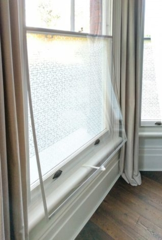 Split-Panel WindowSkins Installation with Venting Arm fitted
