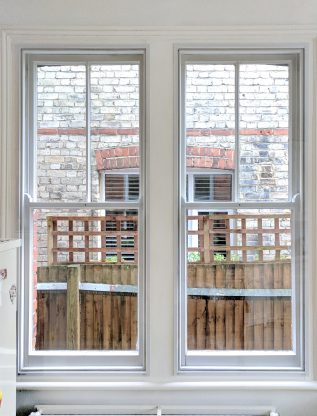 Pair of Sash Windows with WindowSkins Secondary Glazing Installed