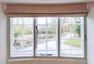 Curved Timber Casement Windows with WindowSkins Secondary Glazing Installed