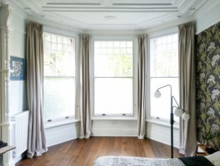 Split-Panel Sash WindowSkins Secondary Glazing Installation in beautiful room with period features