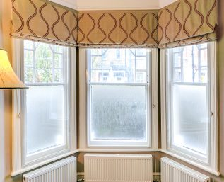 Victorian Bay Sash Windows with WindowSkins Secondary Glazing Window Insulation