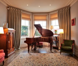 Room with Steinway and WindowSkins